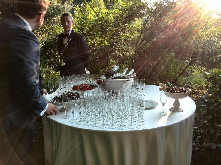 aperitivo lungo il viale. wedding day