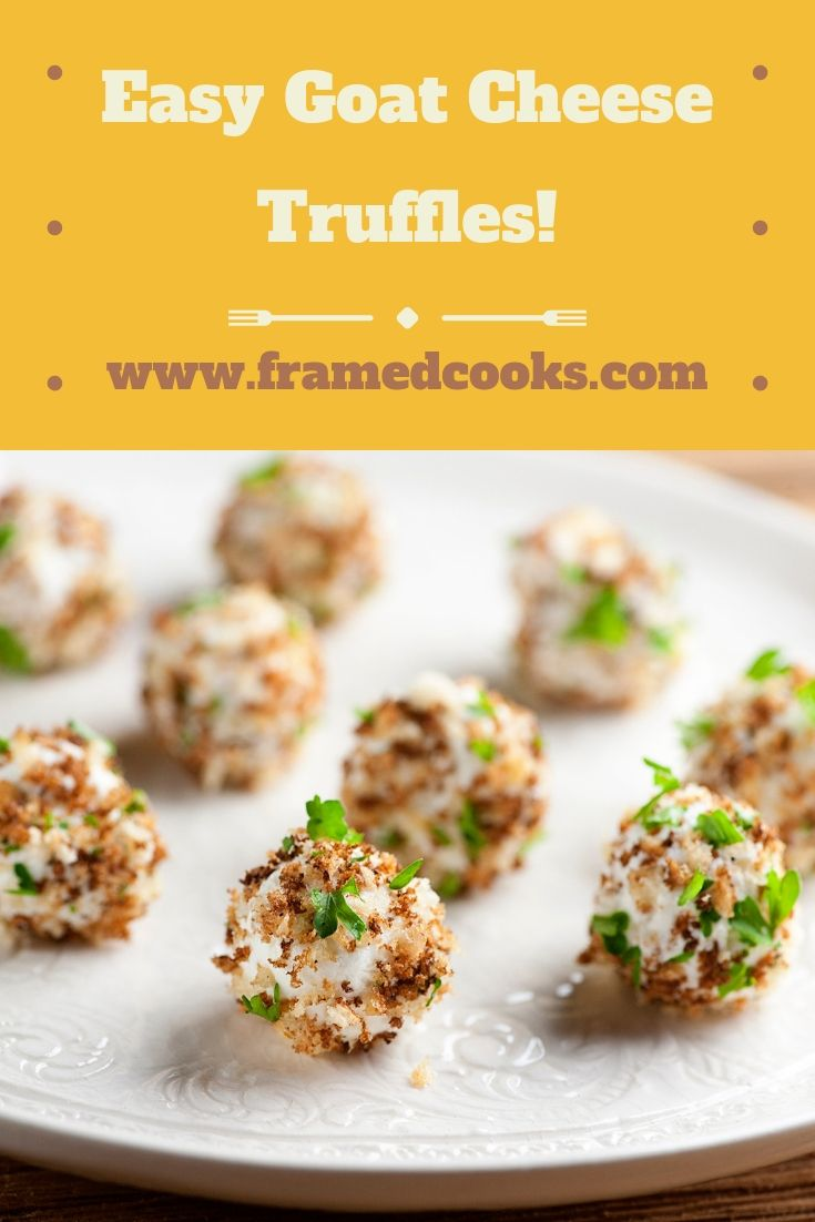 Easy Goat Cheese Truffles Recipe Appetizer Recipes Appetizers Easy Recipes