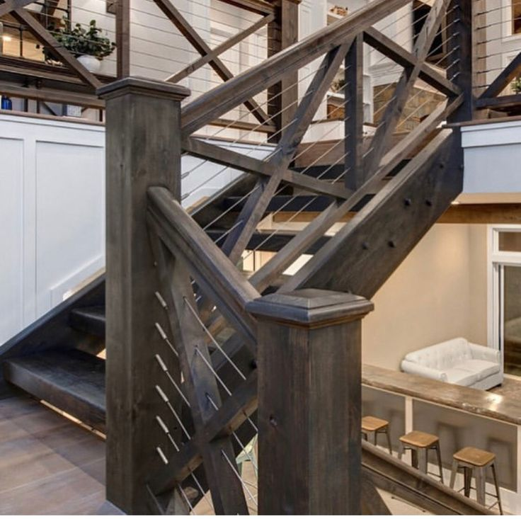 Dark Stained Staircase Banister