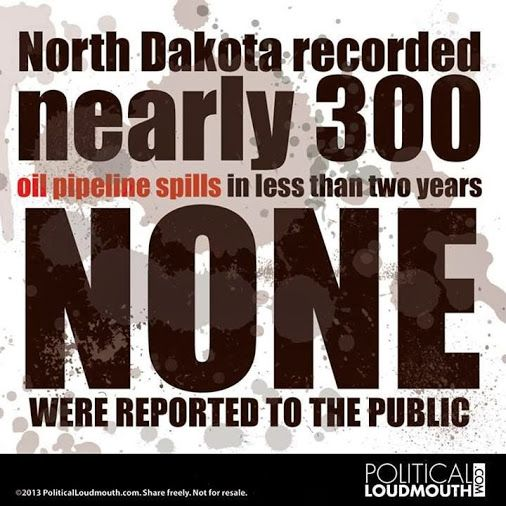 Big surprise!  Who runs North Dakota?  Which companies made the spills?  Answer these questions and you'll understand why these spills were never reported.  I betcha the Kochs are involved.