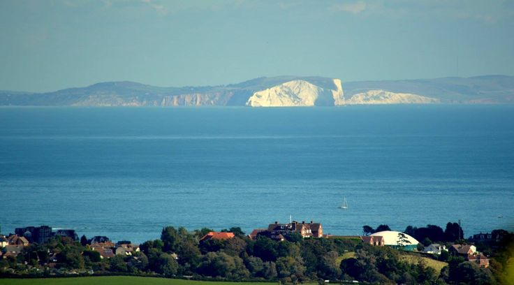 Swanage Bay looking towards the Isle of Wight