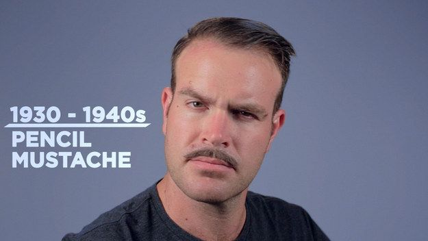 1930s-40s - Pencil Mustache   American Facial Hair Throughout History