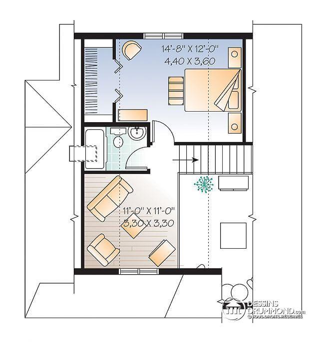 Les 25 meilleures id es de la cat gorie plans tage chambre sur pinterest - Studio plan met mezzanine ...
