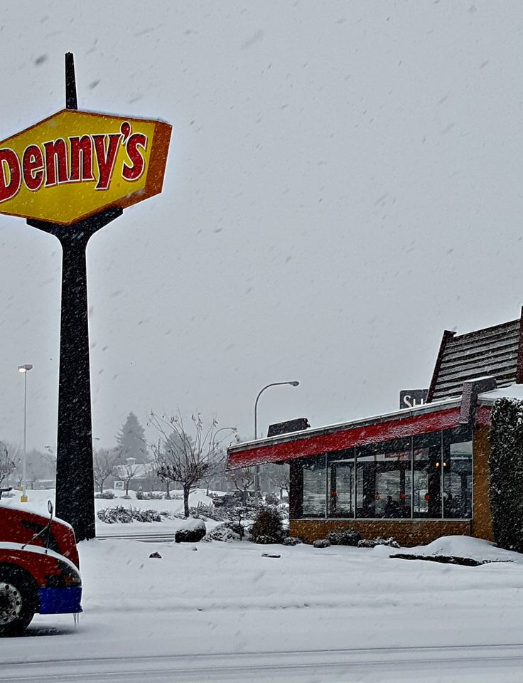 Winter 2017--Denny's Restaurant located across the street from Super 8 Wenatchee. When staying with Super 8 in Wenatchee, stop by the front desk to receive a coupon for a discount at the Wenatchee Denny's.