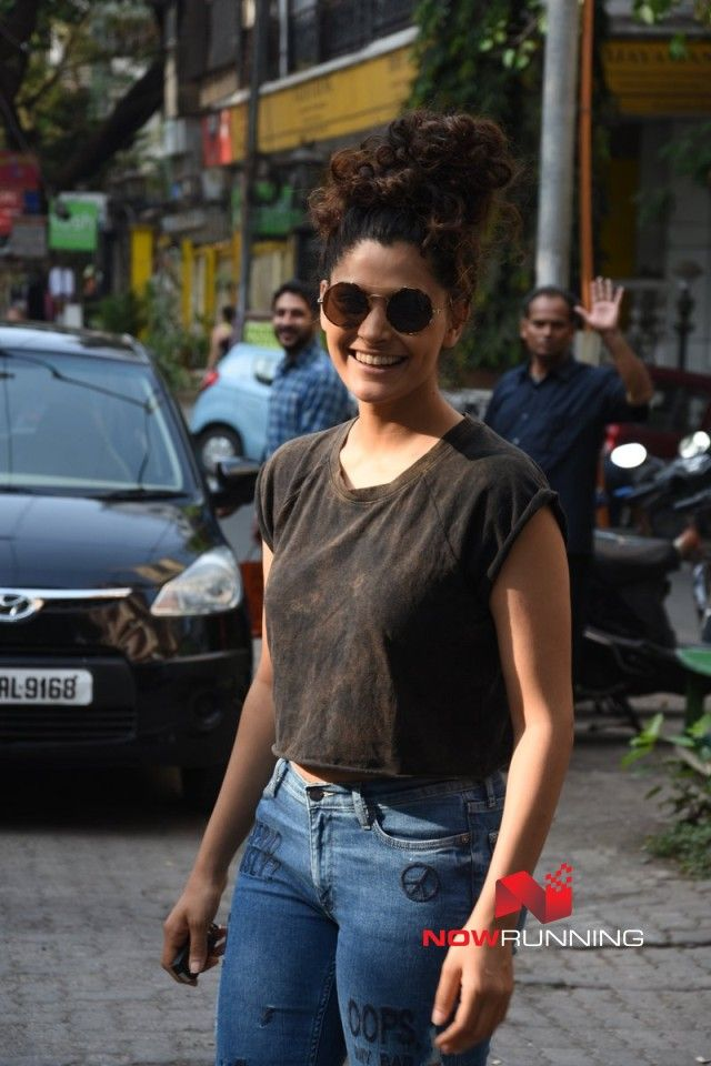 Saiyami Kher snapped making a style statement on the streets in Bandra