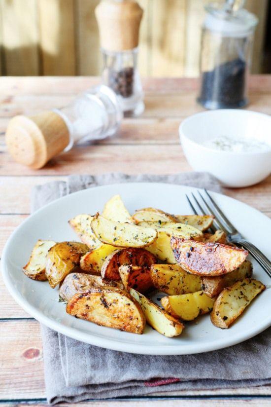 Le patate al forno perfette, con la buccia