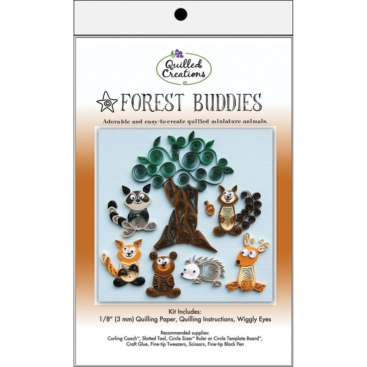 Quilling Kit Forest Buddies, Art & Drawing Toys