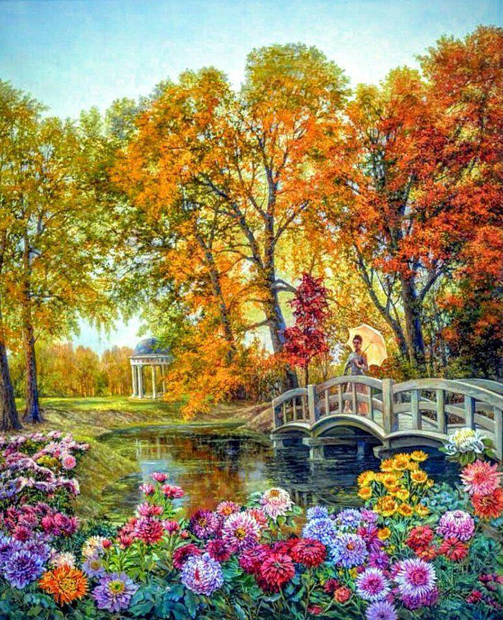Осенний этюд - Схемы вышивки - 2GINTARE - Авторы - Портал «Вышивка крестом»