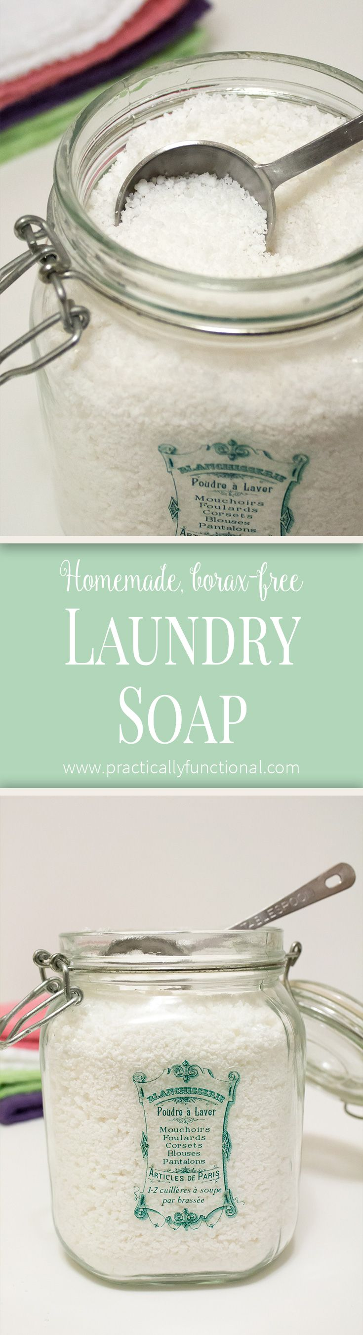 This homemade laundry soap is cheaper, non-toxic, and cleans better than commercial laundry soap!