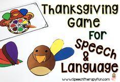 FREEBIE  Thanksgiving Game for Speech & Language!  Addresses multiple speech and language goals!