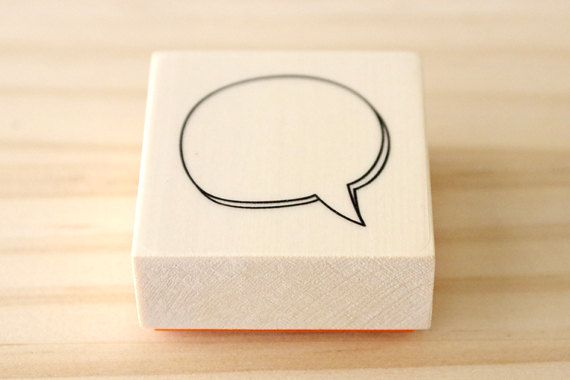 Rubber stamp  speech balloons  A type by karaku on Etsy