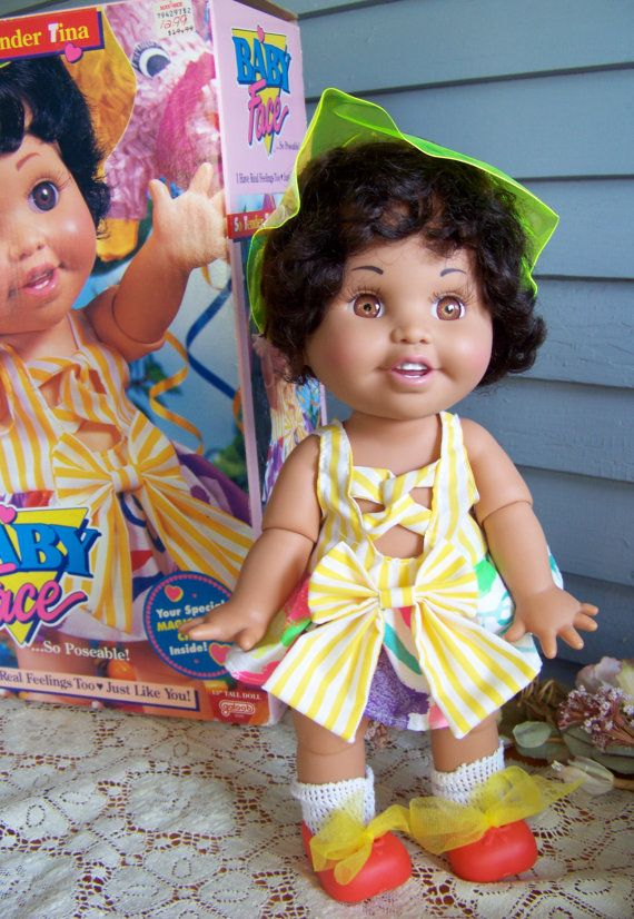 Galoob Baby Face doll So Tender Tina 1991 baby by ThisandThat4U