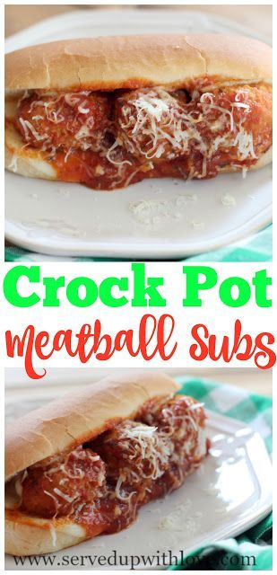 Crock Pot Meatball Subs recipe from Served Up With Love. One of the easiest and family pleasing meals I have in my arsenal. Takes minutes to put together and they are super delicious. www.servedupwithlove.com