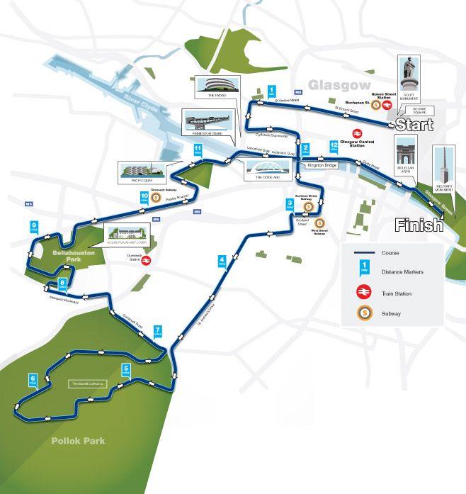Bos Great Scottish Run Half Marathon Course Map