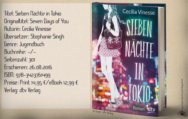"""""""Sieben Nächte in Tokio"""" von Cecilia Vinesse ist ein Jugendbuch, was über Freundschaft, Familie, Abschiede und der ersten Liebe erzählt. Eine niedliche Story für Zwischendurch mit einer beeindruckenden Kulisse. ~ erste Liebe ~ Teenagerstory ~ eine Suche nach Geborgenheit und Glück"""