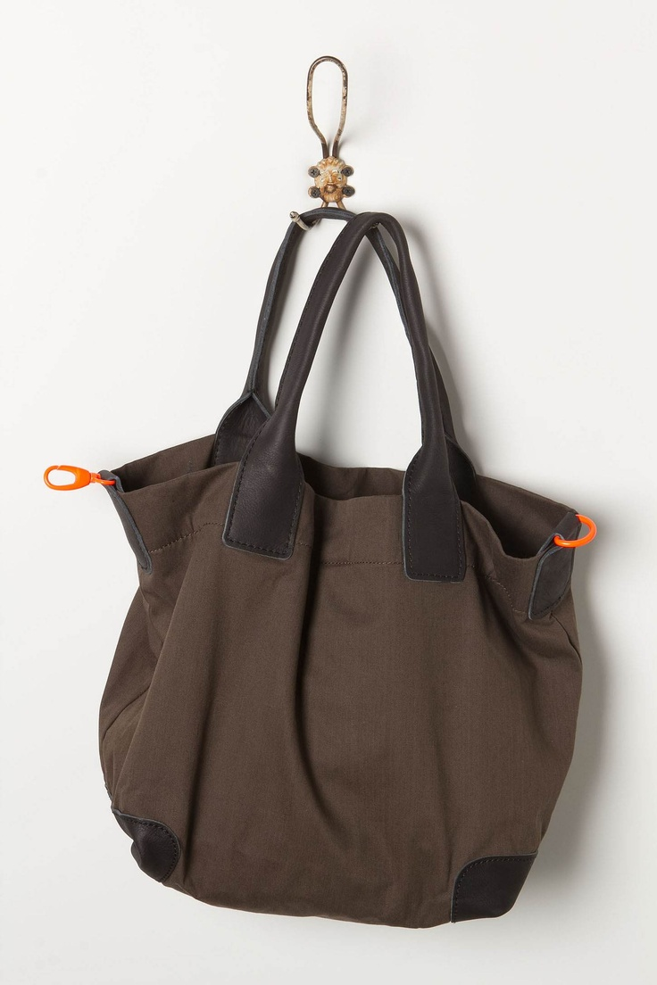 Neon Clipped Utility Tote - Anthropologie.com: Totes Anthropologie Com, Brown Bags, Travel Accessories, Accessories Fashion, Clip Utility, Neon Clip, Accessories Bags, Utility Totes, Simple Brown