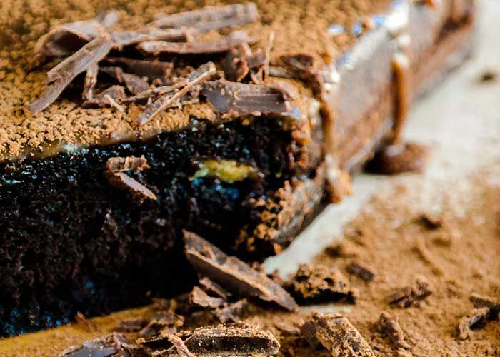 Flourless Bean Chocolate Brownies Expresso