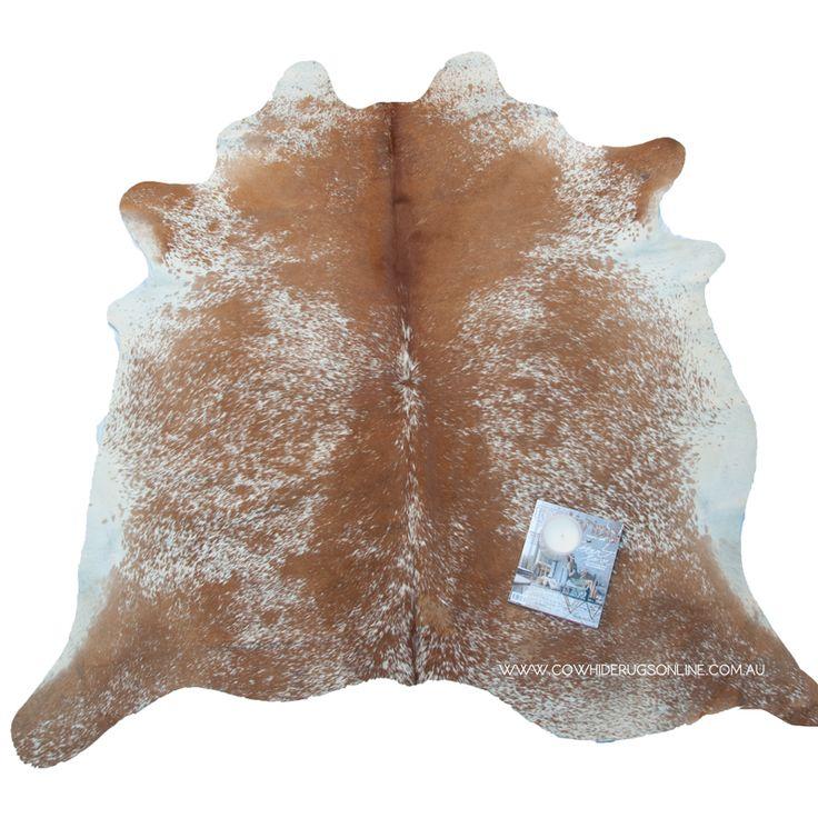 Medium Brown Salt Pepper Natural Cowhide Rug Rugs OnlineLiving Room