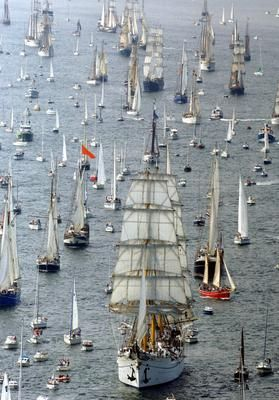 Kiel Week is the largest sailing event in the world, and also one of the largest Volksfest in Germany.