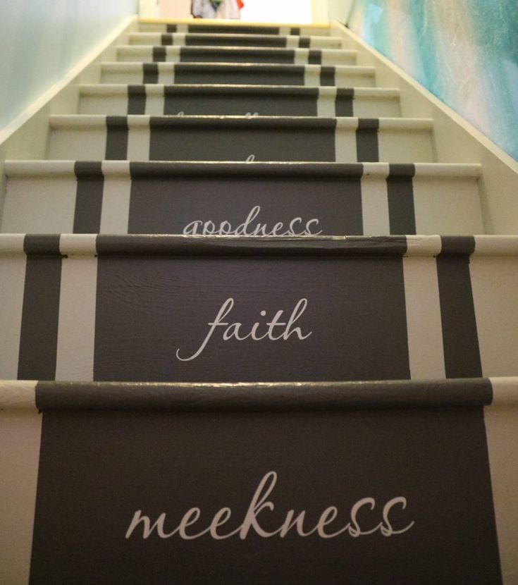 Adding Vinyl Stickers To The Basement Stairs Basement | Adding Stairs To Basement