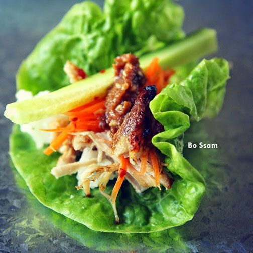 Bo Ssam - Korean Roasted Pork Belly Recipe - RecipeChart.com