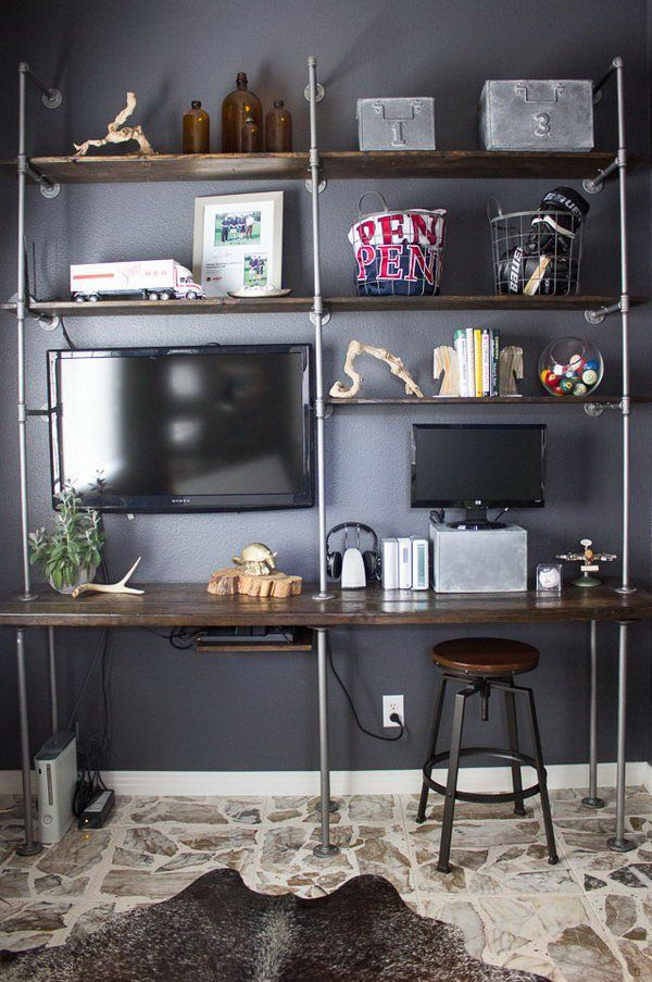 1000 images about man cave inspiration on pinterest for Man cave desk
