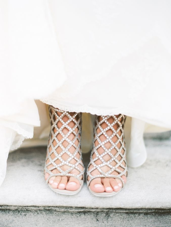 Wedding shoes that make a statement! http://www.stylemepretty.com/vault/gallery/38109 | Photography: Taylor Lord - http://www.taylorlord.com/