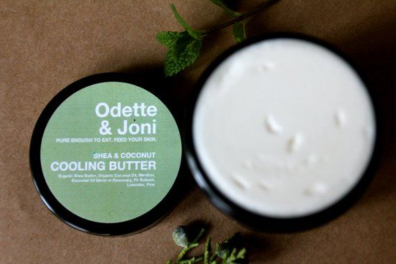 Organic Cooling Foot Cream Whipped Shea Butter Whipped Coconut