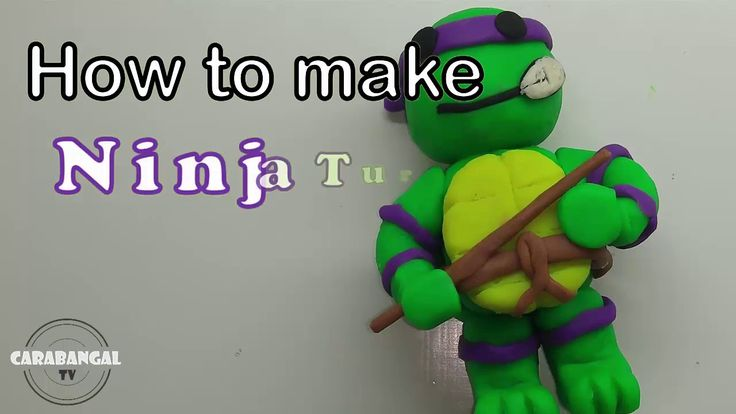 NINJA TURTLE HOW TO MAKE NINJA TURTLE / KURA - KURA NINJA CARA MEMBUAT K...