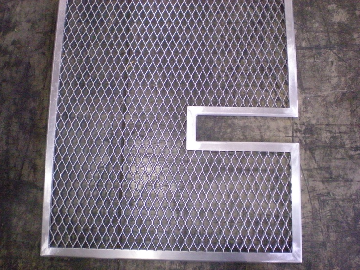 Expanded Metal With U Edging Custom Fabrication Work