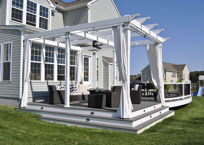 Custom TimberTech Deck/Pergola, Downingtown PA - Keystone Custom Decks