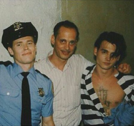 Willem Dafoe, John Waters and Johnny Depp behind the scenes of Cry-Baby