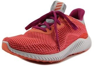 adidas Alpha Bounce Youth Round Toe Synthetic Pink Running Shoe.