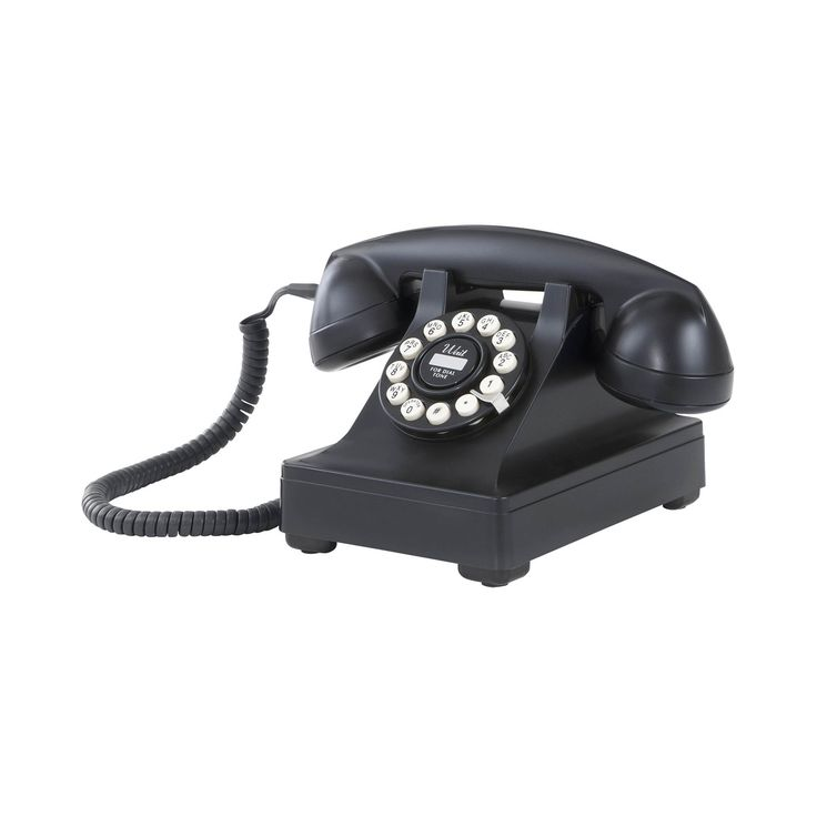 This vintage-inspired desk phone is based on the 1937 invention that incorporated a bell in the base of the unit. Originally cast in metal (but now in heavy-duty plastic housing), this retro-style desk phone will shed history with every ring, and is sure to be an interesting conversation piece.