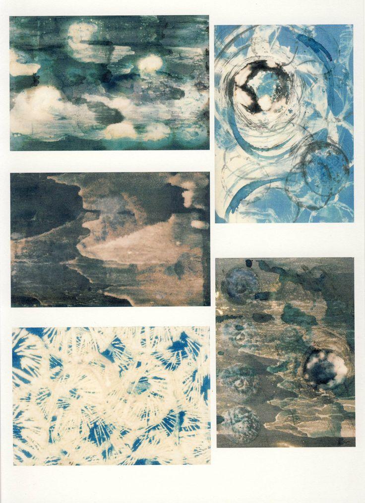 ink and bleach drawings by Jule Mallett