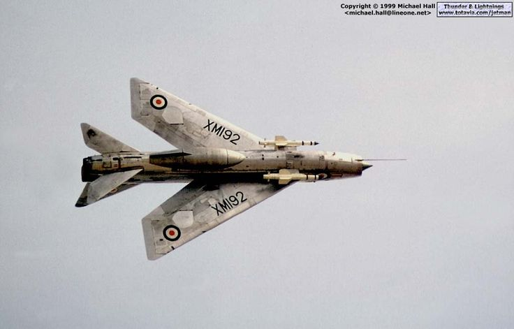 Lightning F.1A XM192 displaying at Biggin Hill in September 1973