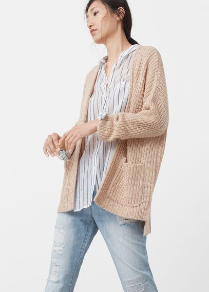 Mango Outlet Chunky knit cardigan