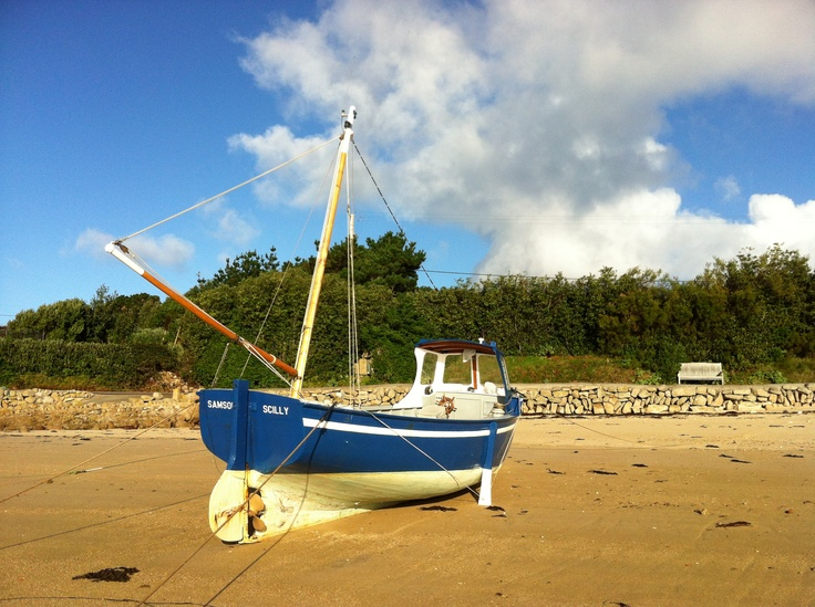 'Samson' fishing boat in New Grimsby Harbour, Tresco, Isles of Scilly