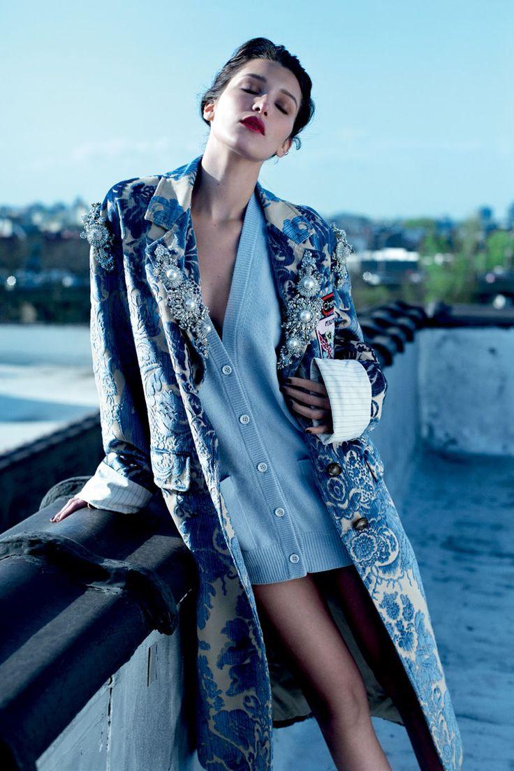 "Senya Hearts♥: Bella Hadid by Mathieu Cesar in ""Ciao, Bella!"" for Harper's Bazaar Russia, October 2016"
