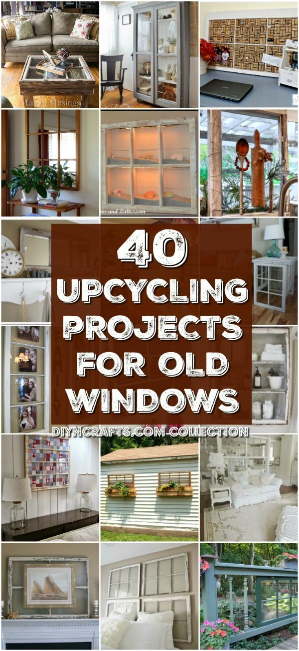 40 Simple Yet Sensational Repurposing Projects For Old Windows - Reuse, repurpose and upcycle old windows with these brilliantly creative projects! Round-up created by diyncrafts.com team <3 via @vanessacrafting
