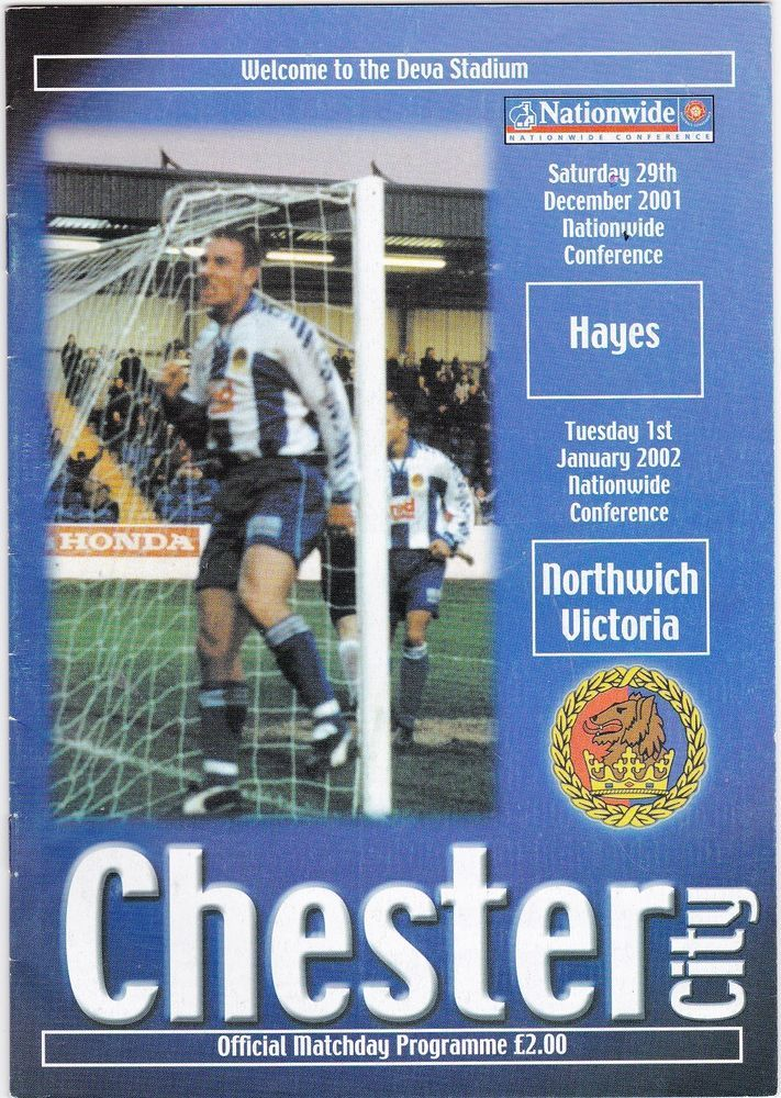 CHESTER v HAYES + NORTHWICH VICTORIA Conference 2001 / 02