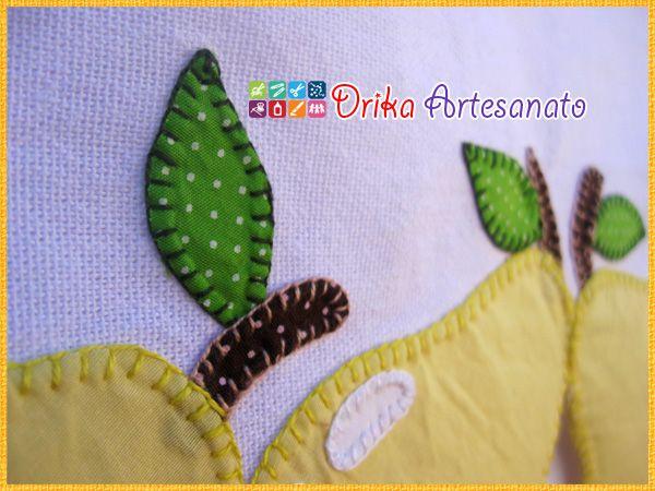 Patchwork moldes pera em patch aplique - Drika Artesanato - O seu Blog de Artesanato.