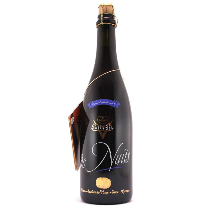 Bush de Nuits 75cl Bush de Nuits is a copper-colored triple with an alcohol content of 13%. To achieve this beer is used Bush de Noël mature for 6 to 9 months in barrels that once Burgundy Nuits-Saint-Georges has been sitting in (hence the name). It is then drawn at 75cl bottles and re-fermented in the bottle in a warm room. The final taste reminiscent of wine.