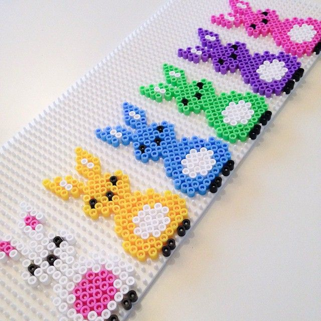 Easter bunnies hama beads by jifode