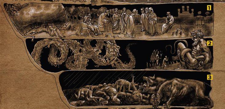 No clássico da literatura A Divina Comédia, o italiano Dante Alighieri descreveu os nove andares do inferno, descendo de Jerusalém até o cafofo do demo. Veja abaixo quais são essas divisões e qual …
