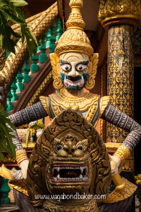 Vietnam. Chòm Ca Temple, Tra Vinh
