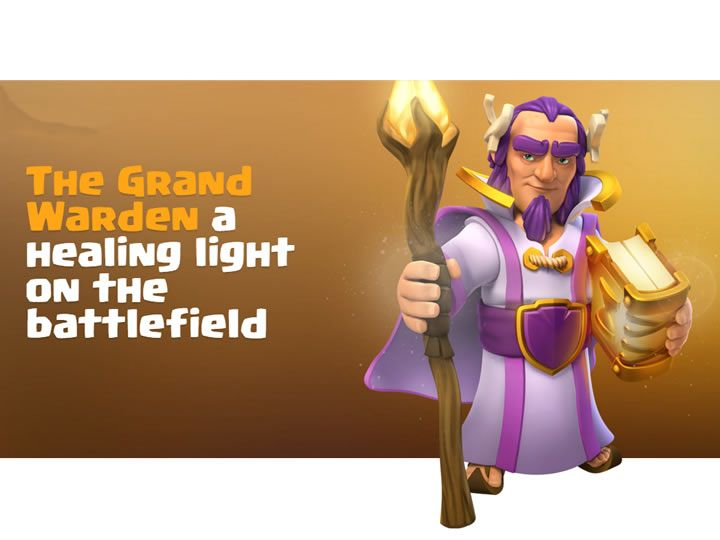 Clash of Clans New Hero - What does the Grand Warden bring to the table? Learn about the Ultimate Powers of the Warden - Clash of Clans New Hero!