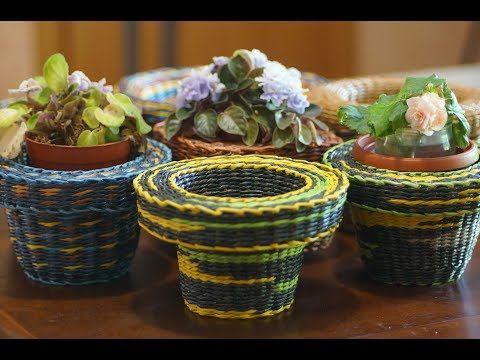 Funda voluminosa – cubierta para la maceta de flores - YouTube