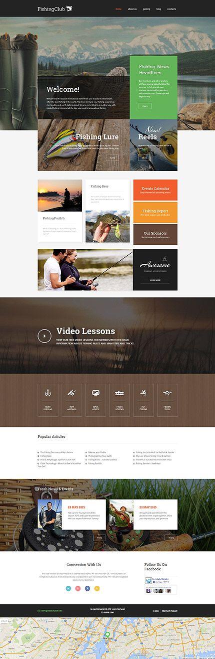 Fishing #WordPressTheme wordpress website template