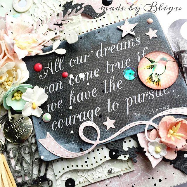 """.:full of dreams  An album made with @piatektrzynastego papers.  #Bligu #piątektrzynastego #handmade #scrapbooking #dpcraft #handmade #wildorchidcrafts"" Photo taken by @agataaraszkiewiczbligu on Instagram, pinned via the InstaPin iOS App! http://www.instapinapp.com (01/20/2016)"